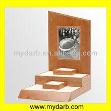 De madera de cerezo& reloj exhibición de la joyería juegos