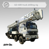 600 meters deep highly efficient Truck mounted water well drilling rig hot sale in Africa