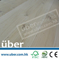 Distressed white oak engineered oak heated wood flooring