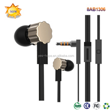 Metal In-ear Noise-isolating Headphones/ Earbuds with Remote & Mic for Smartphones and Tablets