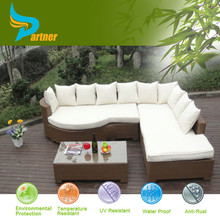 L Shaped Sleeper Kuka Home Chaise Lounge Sofa With Pillow Synthetic Rattan Sleeper Sofa Bed