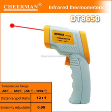 Cheerman factory 12 months warranty time high temperature digital thermometer DT8650
