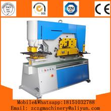 Aço de perfuração e de corte de metal máquina hidráulica máquina trabalhador especificação plano bar máquina de corte