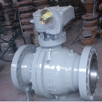 G.O gear operation carbon steel trunnion mounted forged steel ball valve