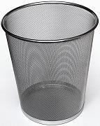 Store More Round Metal Mesh Trash Can Wastebasket Black