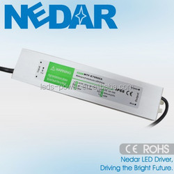 20W Single Output 50/60HZ constant current waterproof led drive ip67
