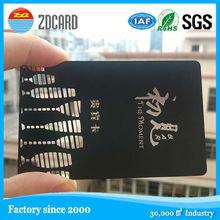 manufacturer cheap price OEM Matte black high quality metal business card