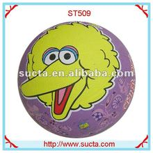 lovely pattern colorful rubber basketball ball ST509