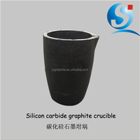 Silicon carbide graphite crucibles