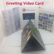 New Arrival Multi-page Video Book with Light Sensor ,catalogue video printing,deluxe digital flyer
