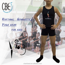 2015 HOT SALE gymnastic wear tank tops shorts kids clothing for fitness and gymnastic