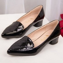 Pointed Toe Chunk Heel Women Pumps Dress Shoes For Office & Career
