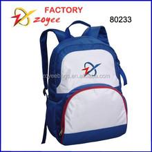 simple guzi nylon blue & white backpack zoyee