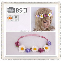 new style braided flower headband popular,infant flower headband