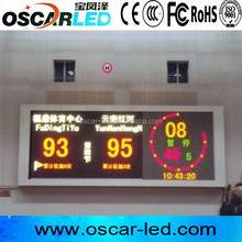 High quality p10 indoor smd full color led display/p10 indoor basketball score board led display