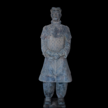 Famous construction decoration ancient chinese sculptures new clay carved garden statues of terracotta warrior replica