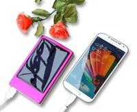 Solar smart sun battery wireless cell phone charger LED waterproof powerbank 10000mah