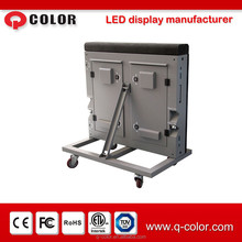 Outdoor waterproof p20 stadium led display screens with wheels and back support