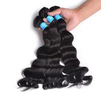 3 Bundles Hot Selling 7A Virgin Peruvian Hair Extensions, 100% Unprocessed Virgin Peruvian Deep Wave Hair Weave Wavy