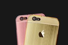 Colorful Electroplate Aluminum Metal Bumper Cover Matt PC Back Case for iPhone 5