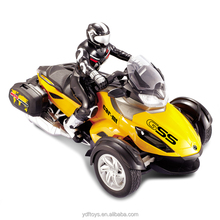 2016 Newest item 1:6 Scale kids toy three wheel car R/C Motorcycle