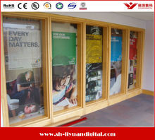 glass sticker one way vision/ window covering one way vsion. high quality one way vision film roll for subaway