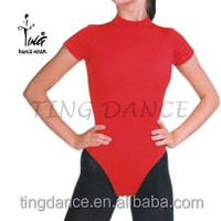 2015 new sexy tight red cotton gymnastic leotards for women