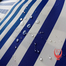 white blue strip waterproof fabric with awning