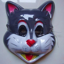 Customized design vacuum formed plastic mask for party & Halloween mask