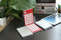 For iPad Keyboard with aluminum cover, Bluetooth folding wireless keyboard for Tablets