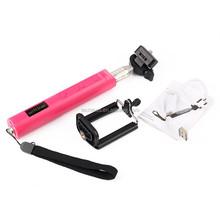 Promotion big handle selfie stick black/ pink /green color in stock