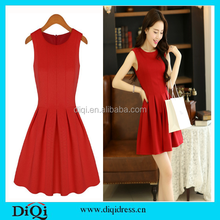 Women clothing dresses party cotton frock designs dresses red short