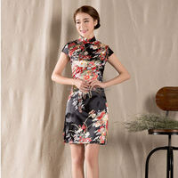 New spring summer short-sleeved vintage costume improved cheongsam dress Chinese style Women Homecoming Club dresses