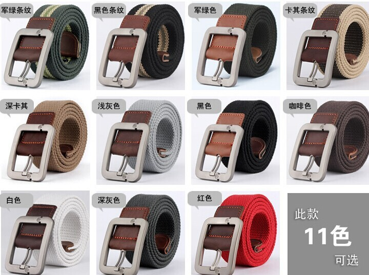 Men's Belts Fashion Casual men belt buckle canvas PU fashion canvas belt for men,drop shipping
