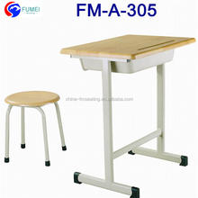 FM-A-305 Single wood kid's desk and chair sets for nursery school