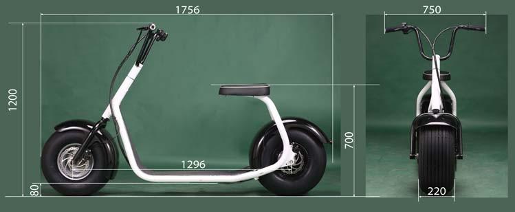 2017 nouveau deux roues gras citycoco lectrique scooter 800 w moteur lectrique scooter scooter. Black Bedroom Furniture Sets. Home Design Ideas