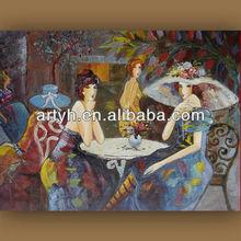 Modern handmade famous female oil painting