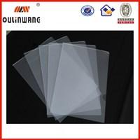 transparent a4 size foldable plastic l type file folder
