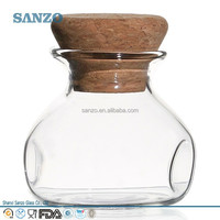 Sanzo Clear Handmade wholesale Borosilicate Glass Oil Bottle with Lids