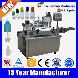 Auto e-liquid filling capping and labeling,liquid filling capping machine,liquid vial filling with plugging,e liquid filler