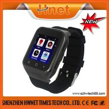 1.54inch High-end Sturdy stainless steel cell phone watch gps tracker watch phone