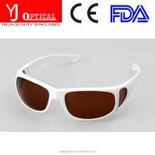 Top quality vogue polarized outdoor sport sun glasses uv400 brown lens