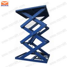 Cheap and durable hydraulic scissor lift mechanism design