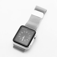 sliver watch strap all stainless steel metal retail packing bag watch band for Apple Watch