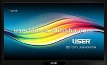 16:10 lcd wide screen cctv monitor 22 with HDMI/DVI/BNC/VGA input