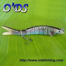 Lifelike hard plastic fishing lure manufacturer 8 section hard trout lure