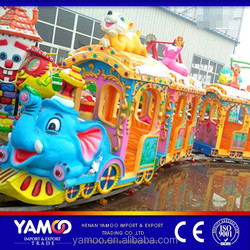 Yamoo top selling amusement equipment elephant track/trackless train/ theme park rides for sale