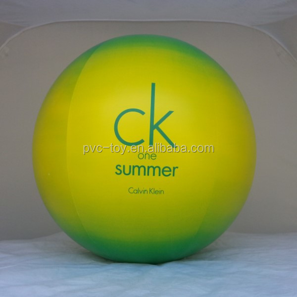 Inflatable beach ball with printed Logo