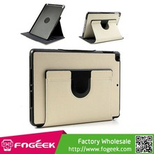 Fast Shipping 360-degree Rotating Twill Cloth Leather Case for iPad Air w/ Holder