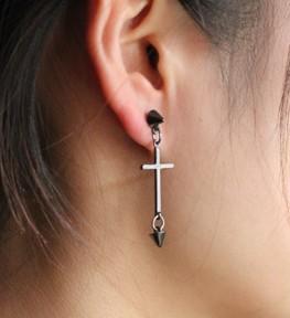 г-жа er213 крест серьги персонализированные серьги оранжевый крест